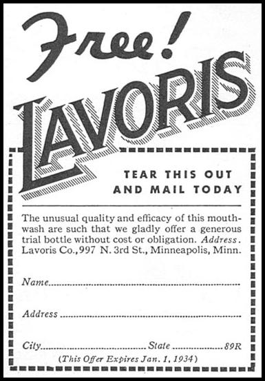 LAVORIS GOOD HOUSEKEEPING 12/01/1933 p. 184
