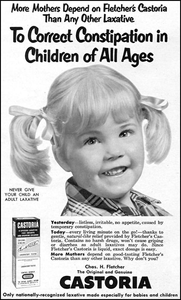 FLETCHER'S CASTORIA FAMILY CIRCLE 01/01/1956 p. 60