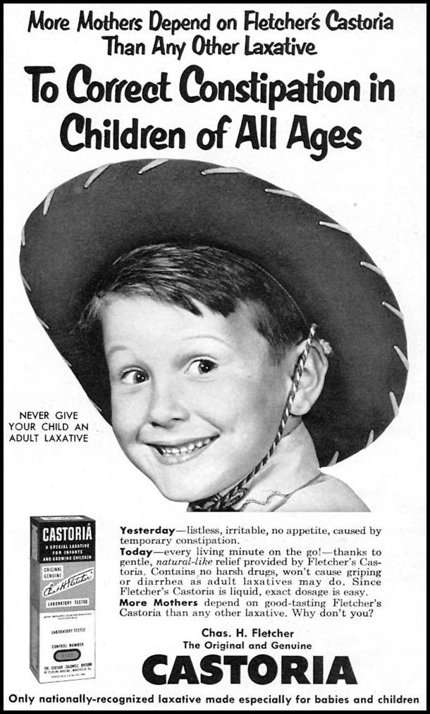 FLETCHER'S CASTORIA FAMILY CIRCLE 02/01/1956 p. 47