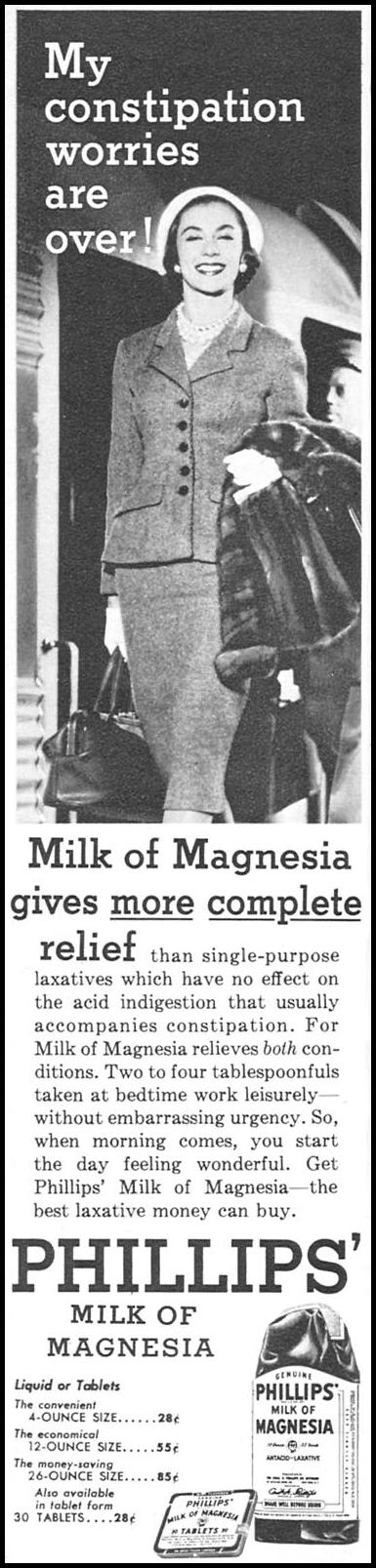 PHILLIPS' MILK OF MAGNESIA FAMILY CIRCLE 02/01/1956 p. 50