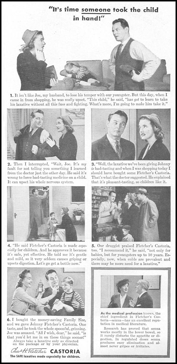 FLETCHER'S CASTORIA WOMAN'S DAY 04/01/1943 p. 51