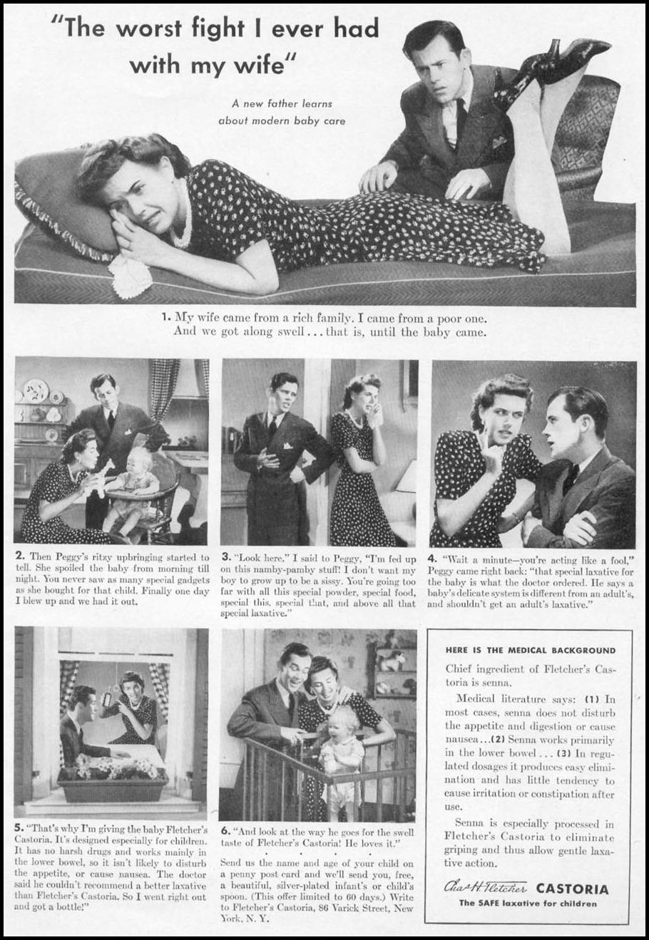 FLETCHER'S CASTORIA WOMAN'S DAY 05/01/1941 p. 49