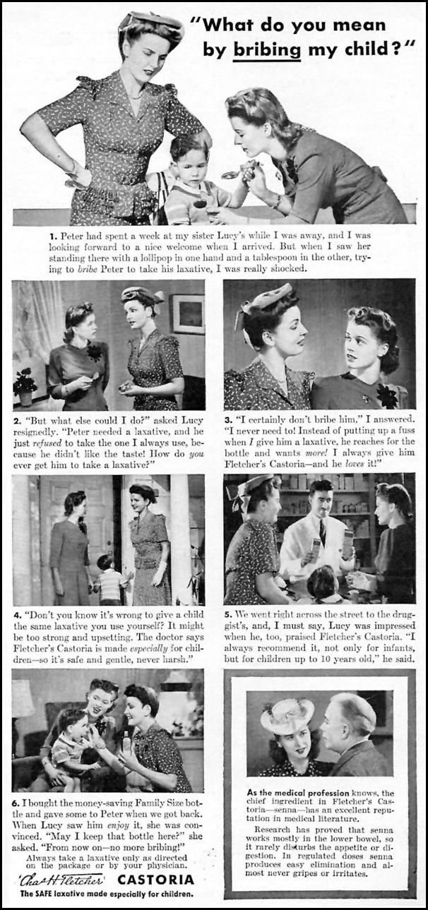 FLETCHER'S CASTORIA WOMAN'S DAY 06/01/1943 p. 51