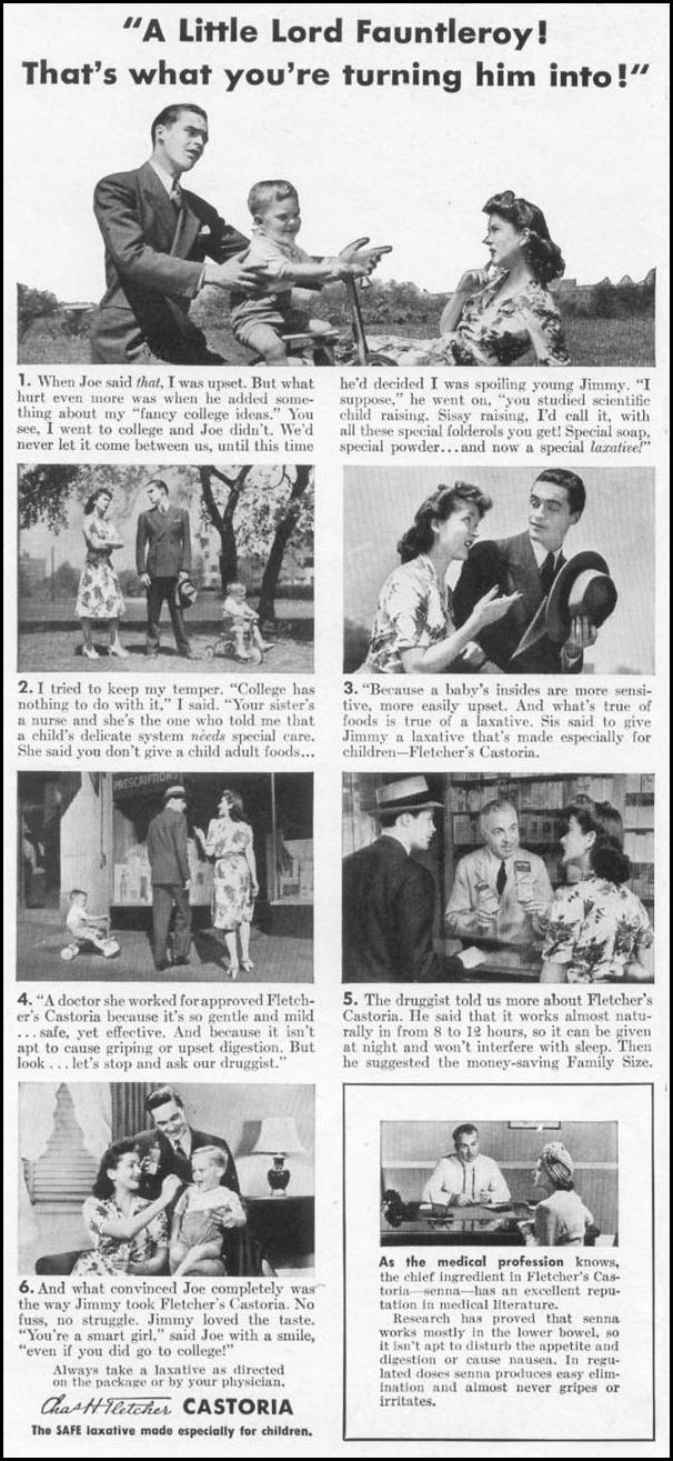 FLETCHER'S CASTORIA WOMAN'S DAY 09/01/1942 p. 44