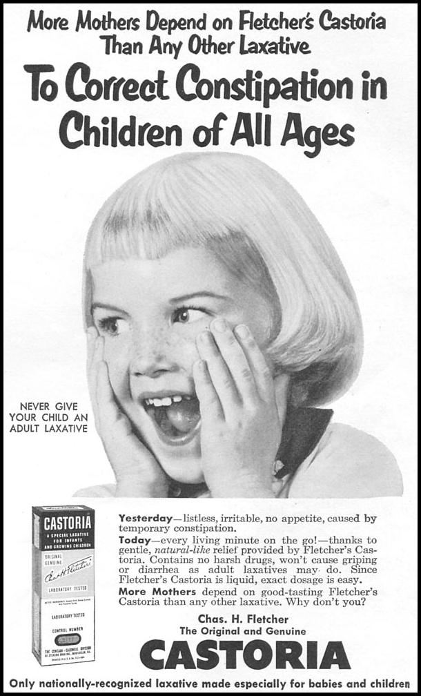 FLETCHER'S CASTORIA WOMAN'S DAY 09/01/1955 p. 125