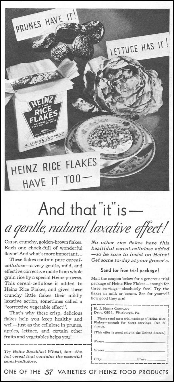 HEINZ RICE FLAKES GOOD HOUSEKEEPING 01/01/1932 p. 179