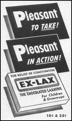 EX-LAX CHOCOLATED LAXATIVE LIFE 04/17/1950 p. 158