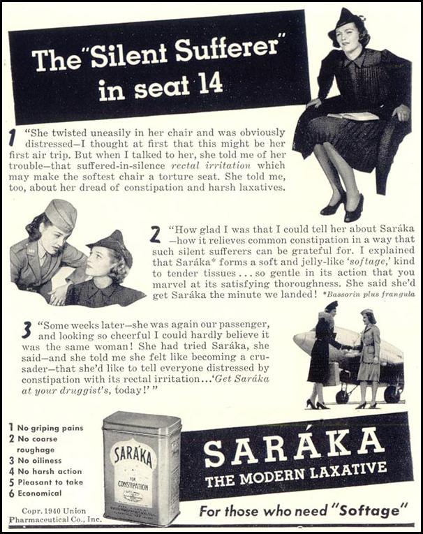 SARAKA LAXATIVE LIFE 09/16/1940 p. 92