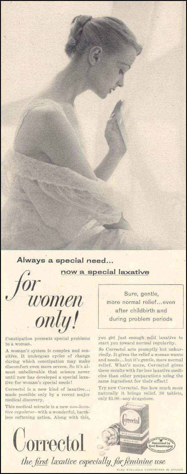 CORRECTOL LAXATIVE LIFE 11/11/1957 p. 129