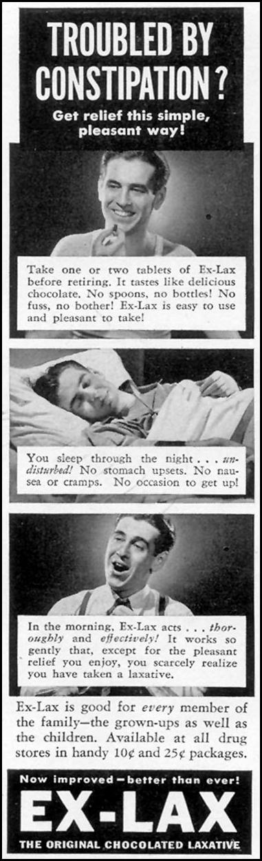 EX-LAX CHOCOLATED LAXATIVE