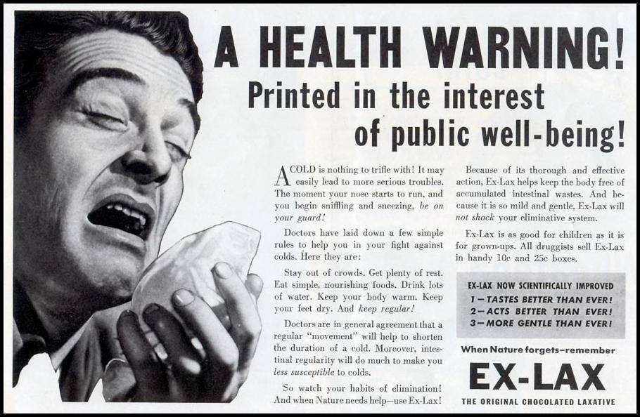 EX-LAX CHOCOLATED LAXATIVE LIFE 12/27/1937 p. 49