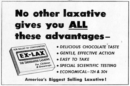 EX-LAX CHOCOLATED LAXATIVE LOOK 12/04/1951 p. 102