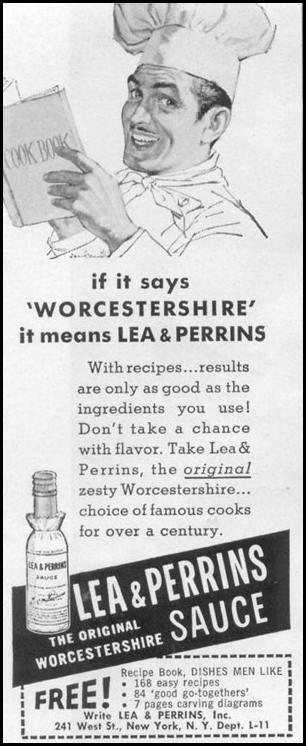 LEA & PERRINS SAUCE LIFE 11/14/1955 p. 176