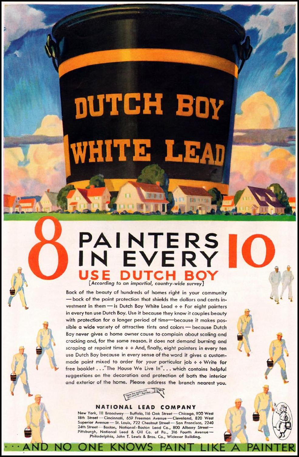 DUTCH BOY HOUSE PAINT BETTER HOMES AND GARDENS 10/01/1930 p. 65