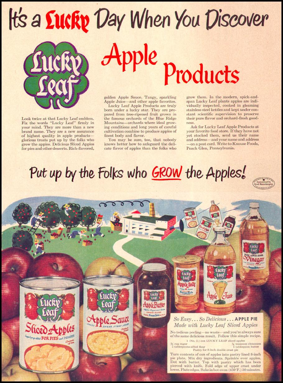 LUCKY LEAF APPLE PRODUCTS LIFE 04/17/1950 p. 164