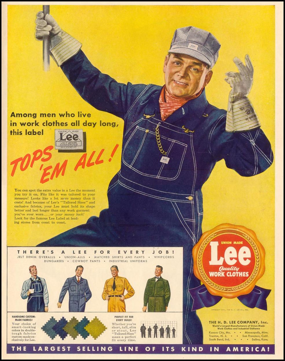 LEE WORK CLOTHES LIFE 02/28/1944