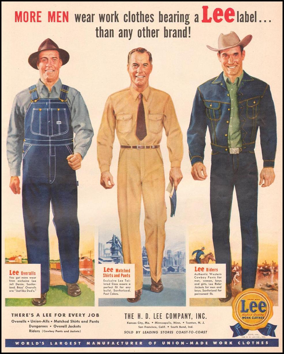 LEE WORK CLOTHES LIFE 04/30/1951 p. 49
