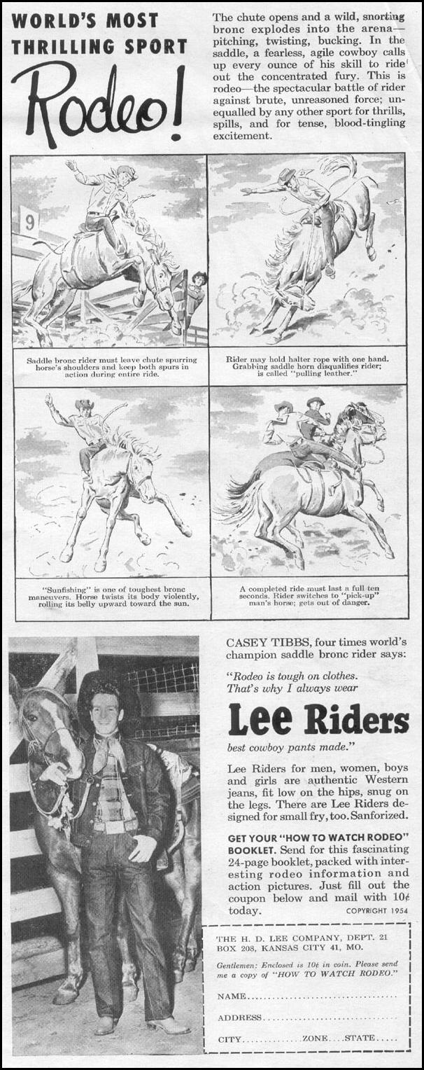 LEE RIDERS WESTERN JEANS LIFE 07/12/1954 p. 25