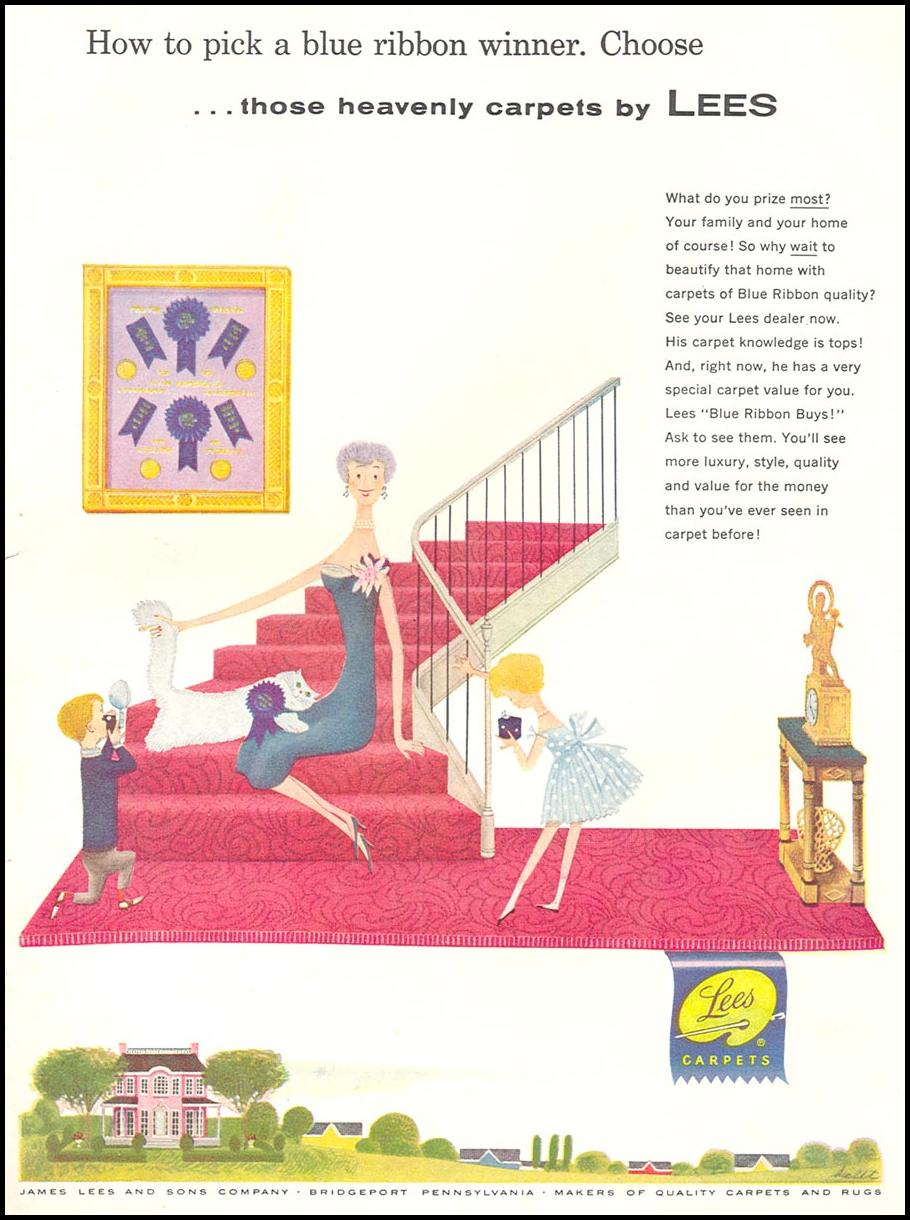 LEES CARPETS WOMAN'S DAY 04/01/1956 INSIDE BACK