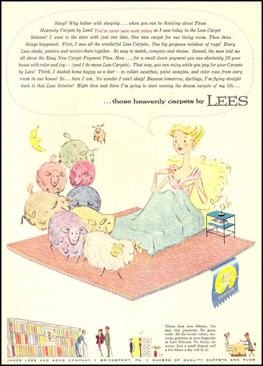 LEES CARPETS WOMAN'S DAY 09/01/1955 p. 17