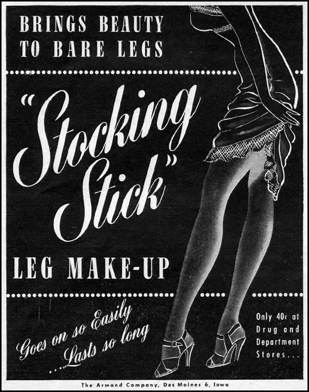 STOCKING STICK LEG MAKE-UP LIFE 06/04/1945 p. 96