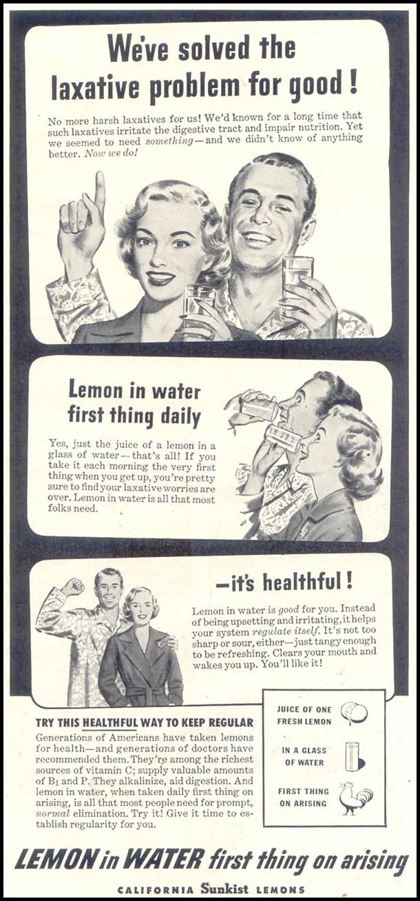 SUNKIST CALIFORNIA LEMONS GOOD HOUSEKEEPING 07/01/1948 p. 175