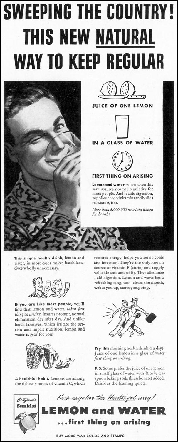 SUNKIST CALIFORNIA LEMONS LIFE 02/28/1944 p. 8