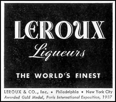 LEROUX LIQUEURS LIFE 01/18/1943 p. 67