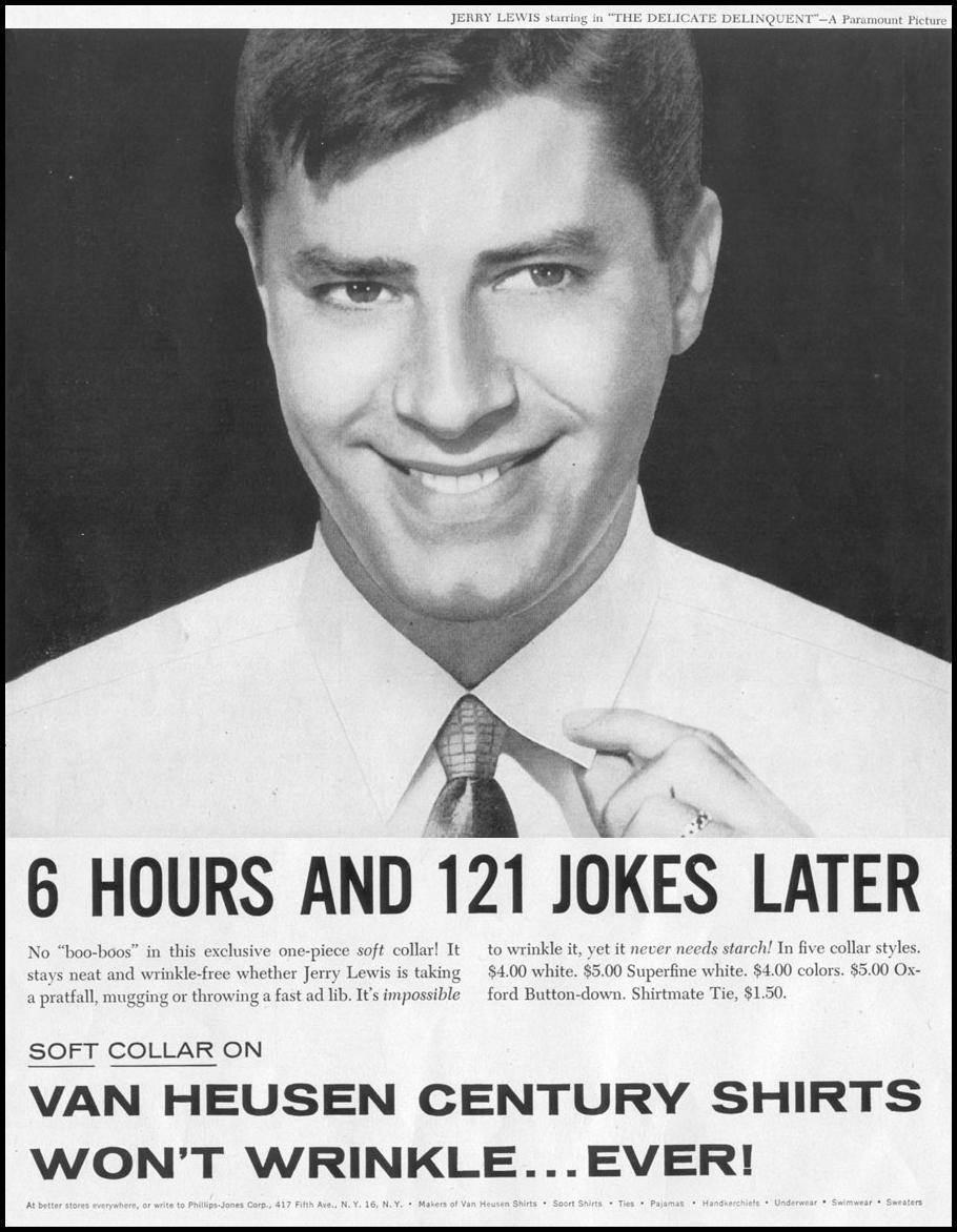VAN HEUSEN CENTURY SHIRTS LIFE 04/08/1957 p. 6