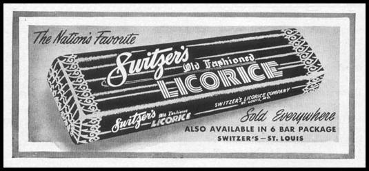 SWITZER'S OLD FASHIONED LICORICE LIFE 04/17/1950 p. 154