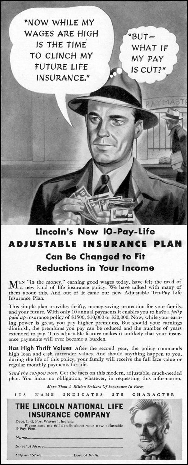 LIFE INSURANCE LIFE 02/21/1944 p. 72