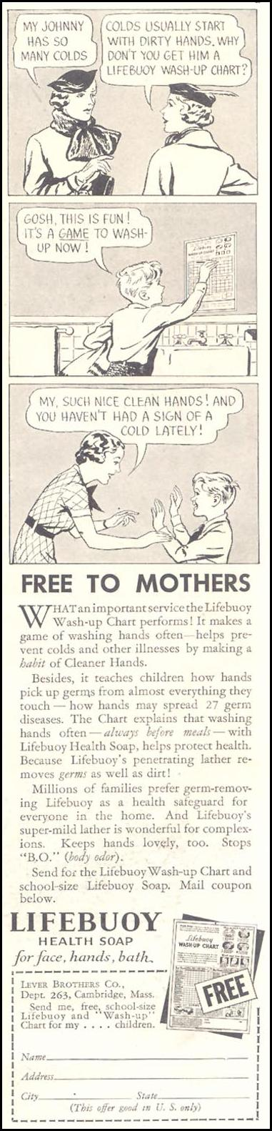 LIFEBUOY SOAP GOOD HOUSEKEEPING 03/01/1935 p. 163