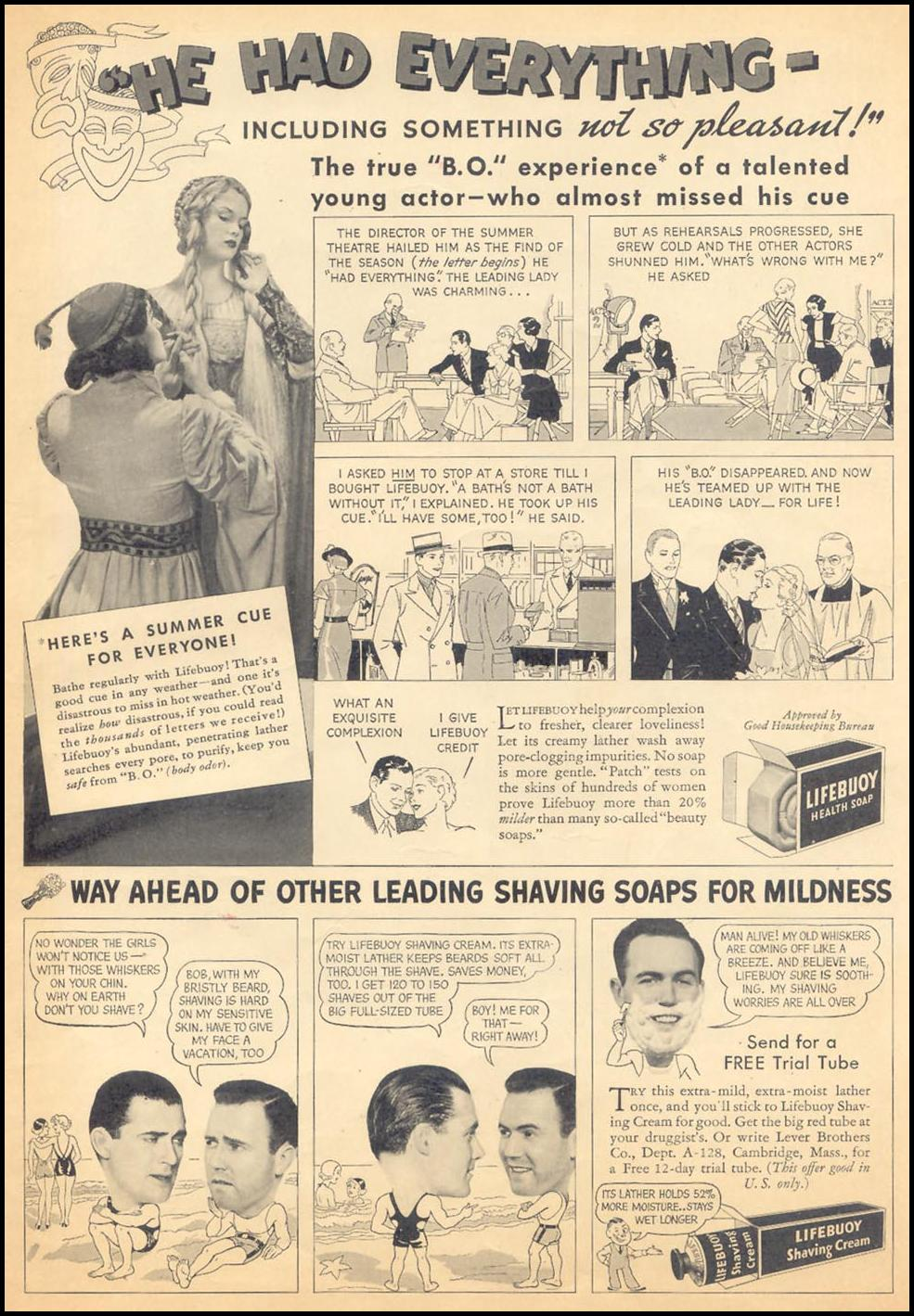 LIFEBUOY SOAP LIBERTY 08/08/1936 INSIDE BACK