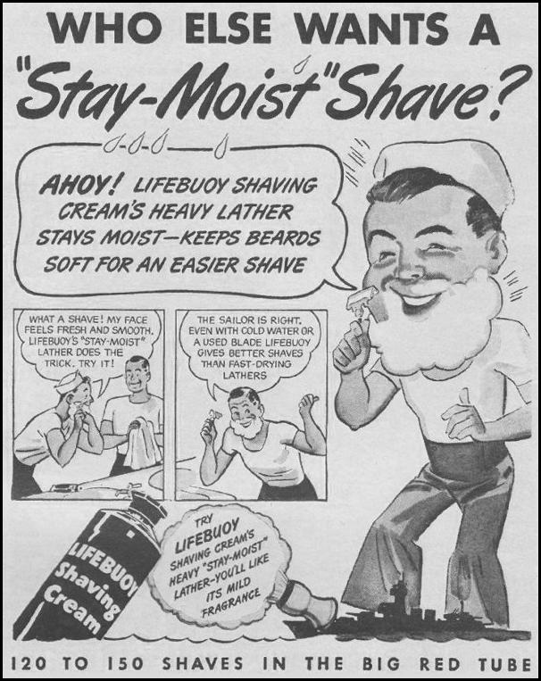 LIFEBUOY SHAVING CREAM LIFE 03/12/1945 p. 111