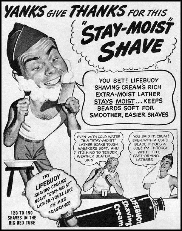 LIFEBUOY SHAVING CREAM LIFE 06/04/1945 p. 78