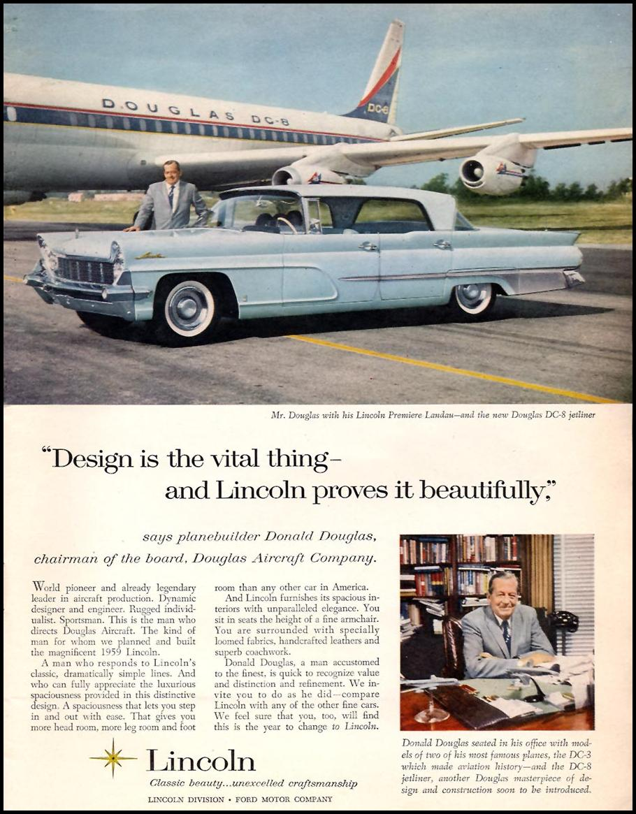 LINCOLN AUTOMOBILES SPORTS ILLUSTRATED 05/11/1959 p. 3