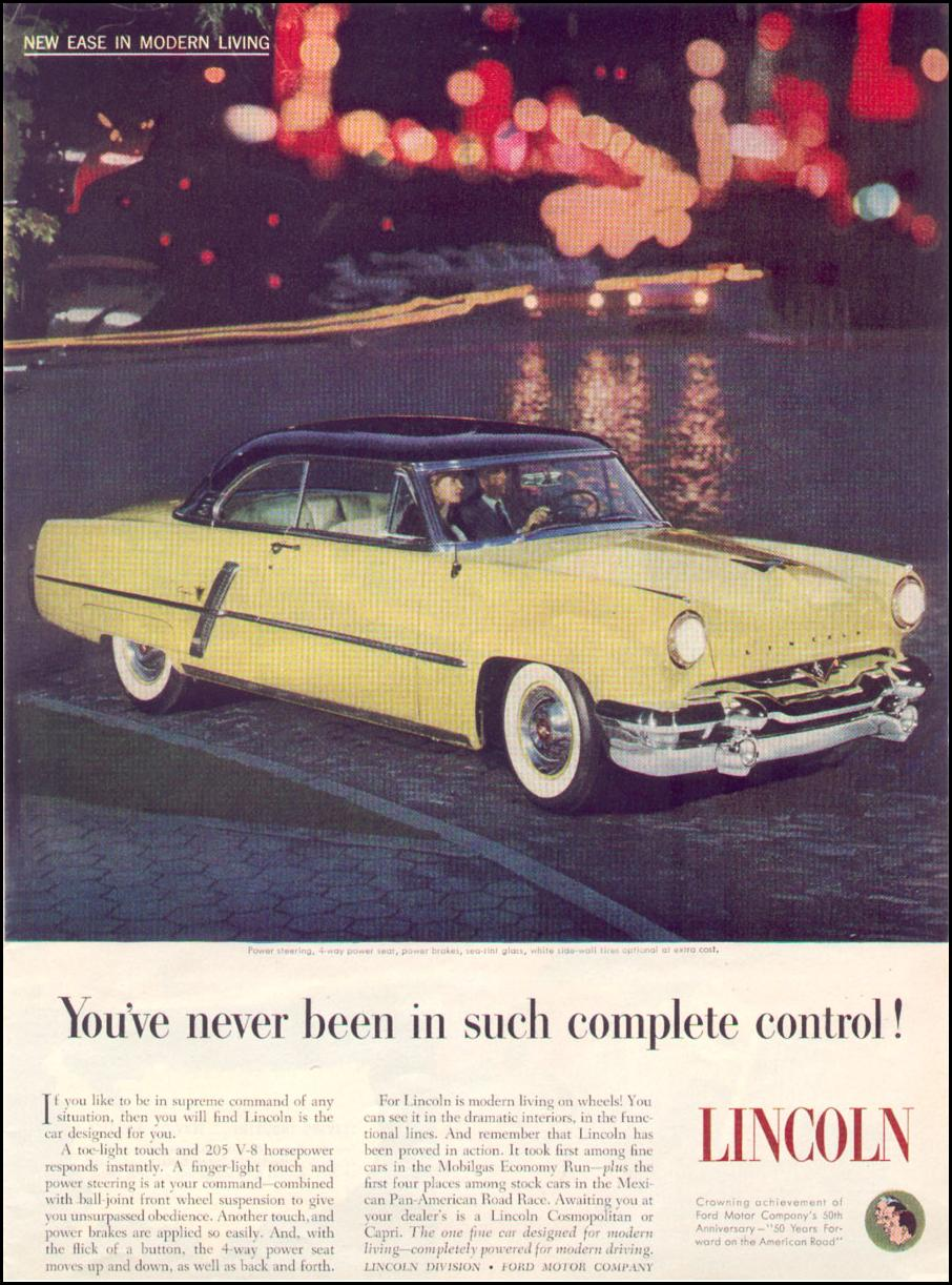 LINCOLN AUTOMOBILES TIME 08/17/1953 p. 67