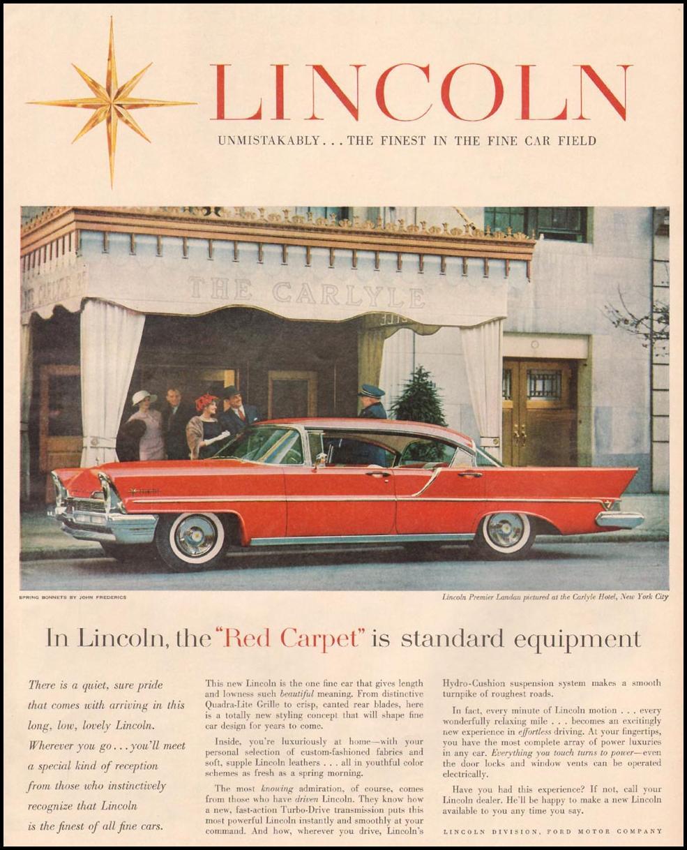 LINCOLN AUTOMOBILES LIFE 04/01/1957 p. 69