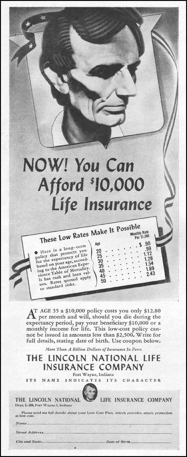 LIFE INSURANCE LIFE 10/25/1943 p. 120