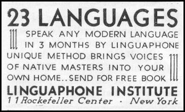 LANGUAGE INSTRUCTION NEWSWEEK 11/09/1935 p. 36