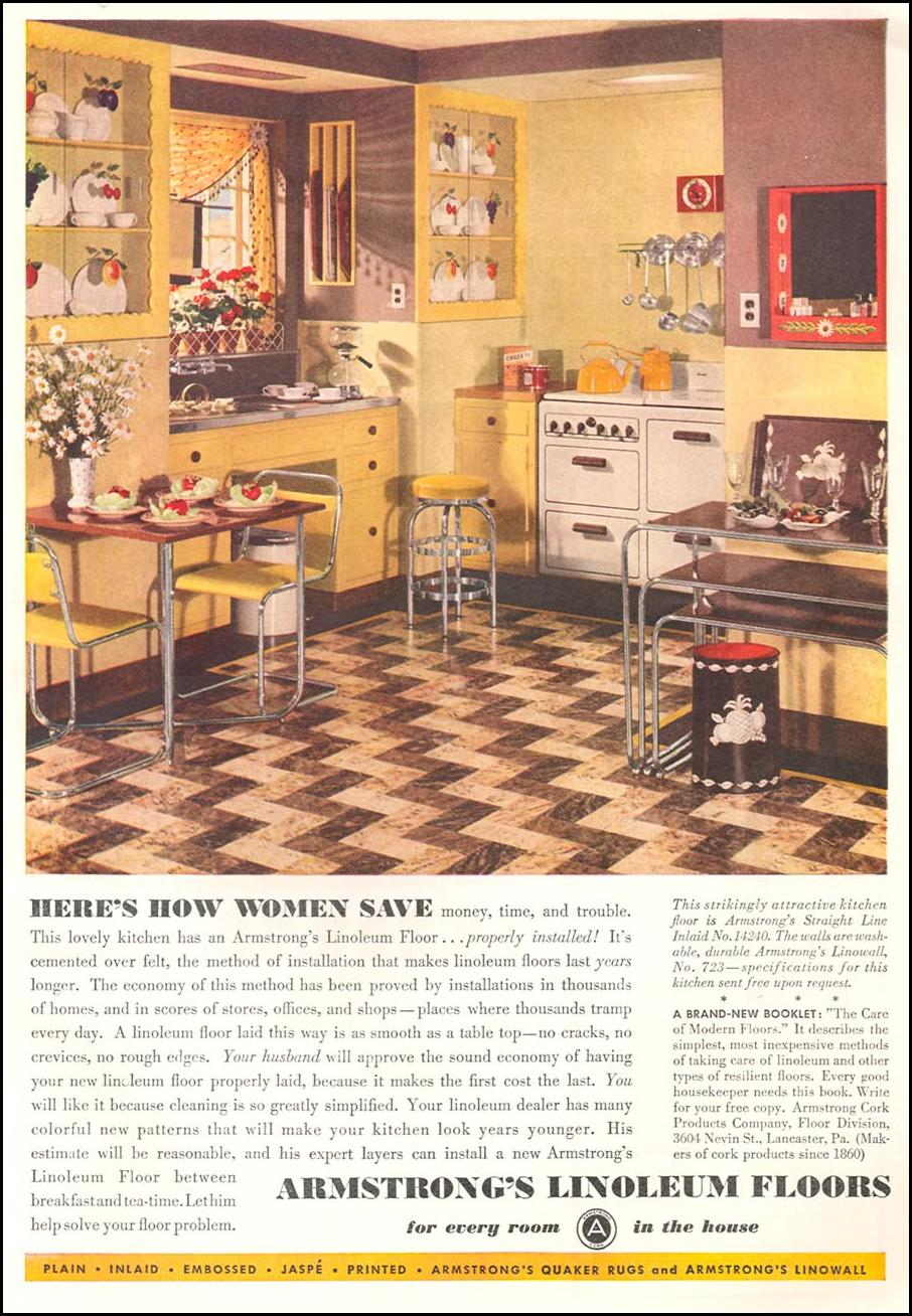 ARMSTRONG LINOLEUM FLOORS GOOD HOUSEKEEPING 04/01/1936