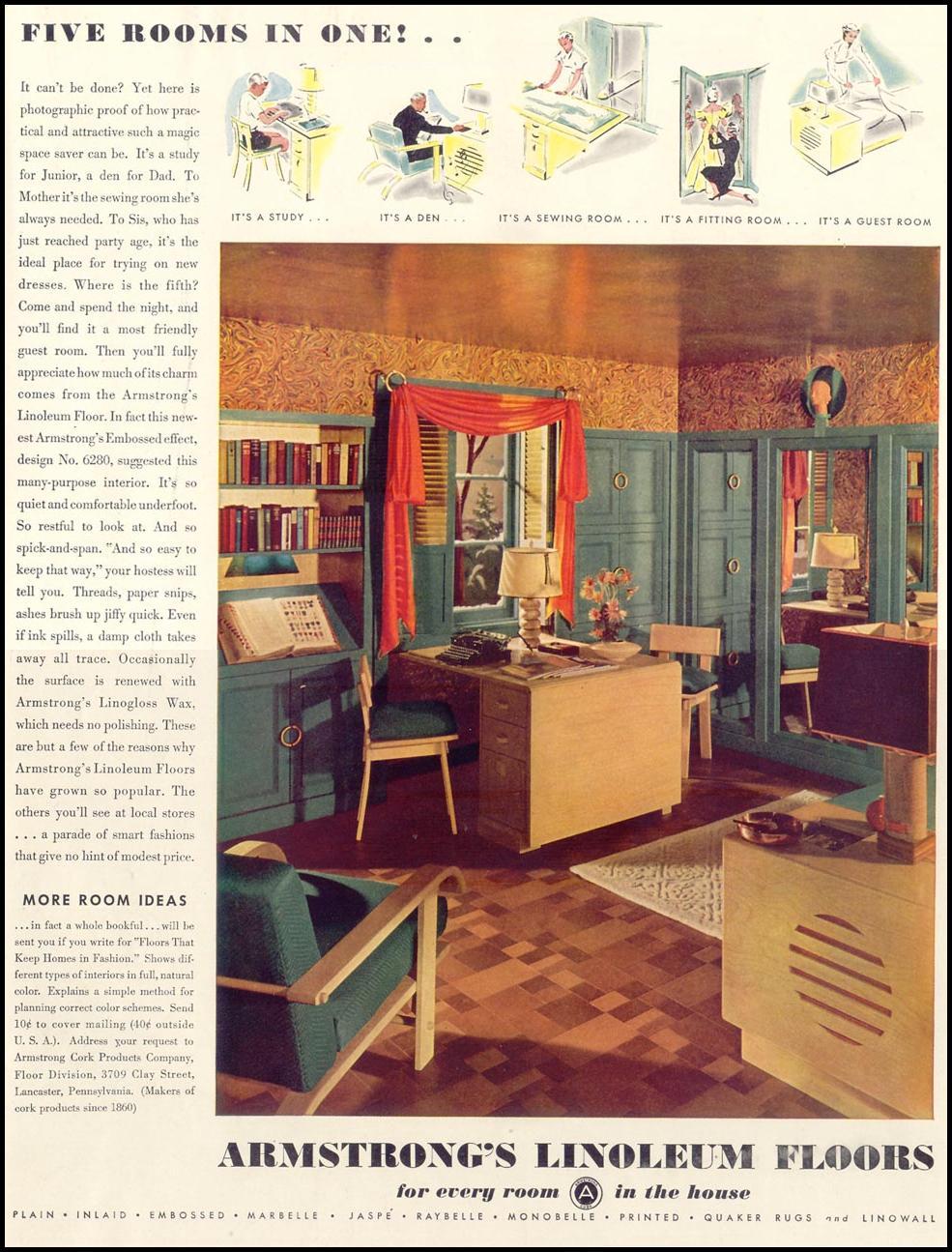 ARMSTRONG LINOLEUM FLOORS LIFE 09/20/1937