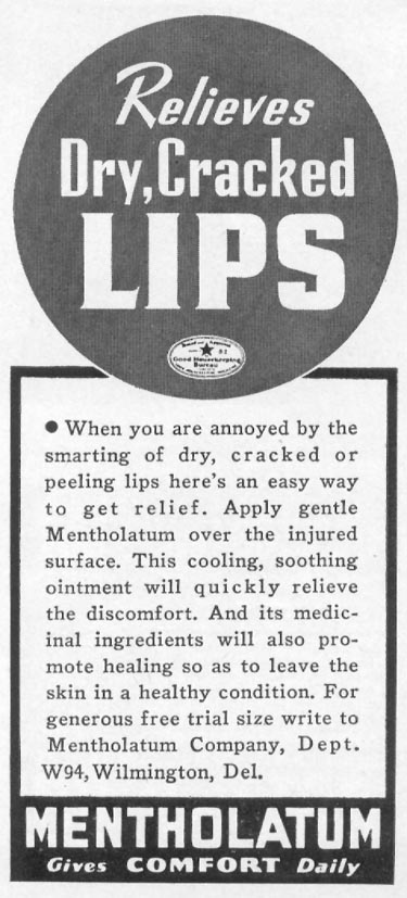 MENTHOLATUM WOMAN'S DAY 05/01/1941 p. 75