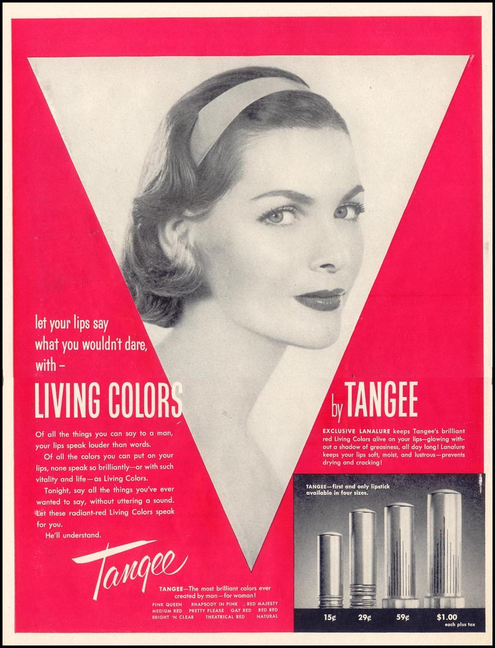 TANGEE LIPSTICK LIFE 11/14/1955 p. 168