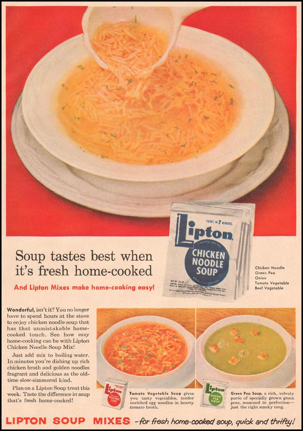 LIPTON SOUP MIXES GOOD HOUSEKEEPING 05/01/1957