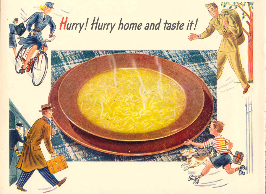 LIPTON SOUP MIXES LIFE 02/14/1944 p. 50