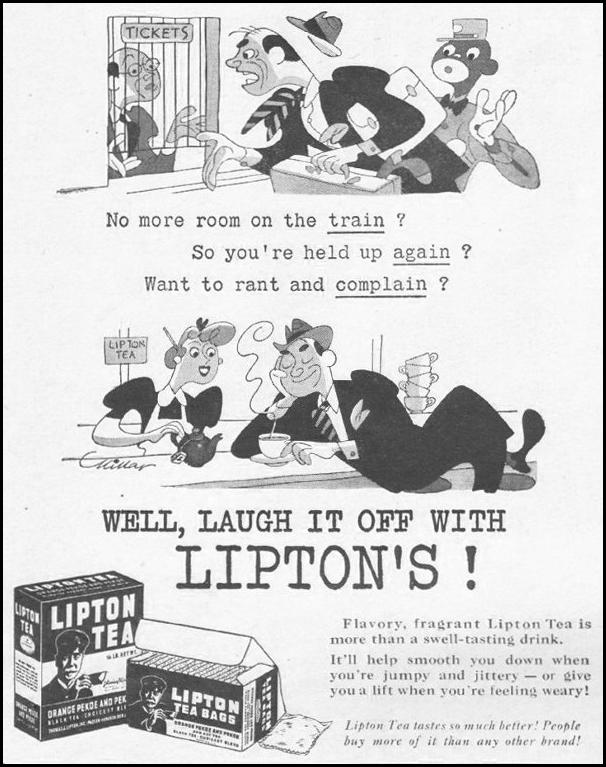 LIPTON TEA LIFE 10/25/1943 p. 86