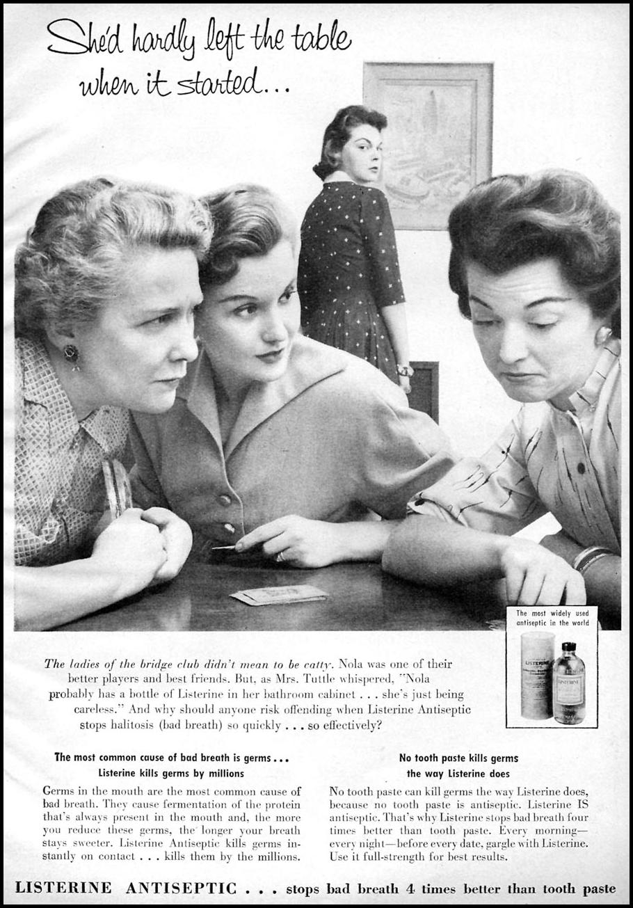 LISTERINE ANTISEPTIC FAMILY CIRCLE 02/01/1957 p. 1