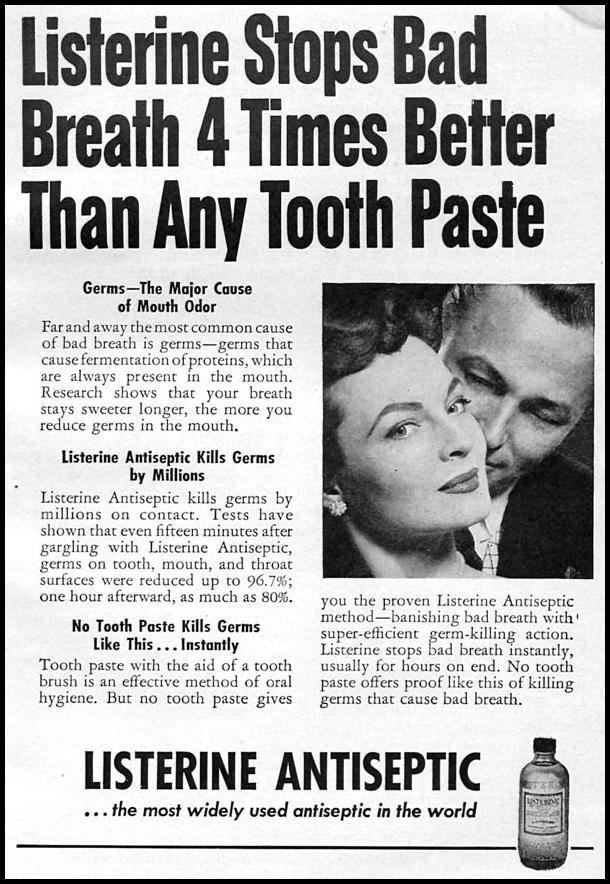 LISTERINE ANTISEPTIC CORONET 08/01/1955 p. 93