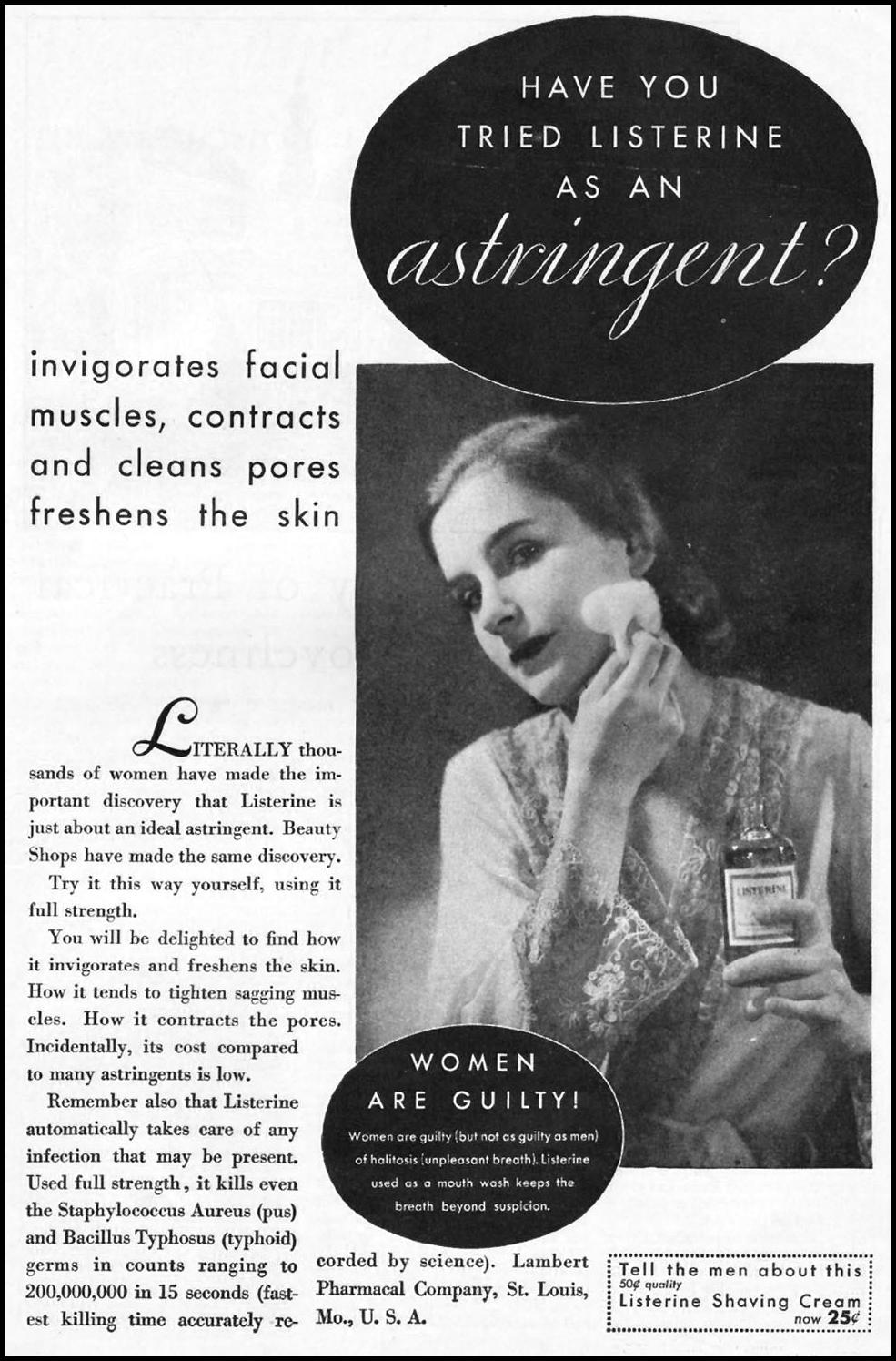LISTERINE BETTER HOMES AND GARDENS 10/01/1930